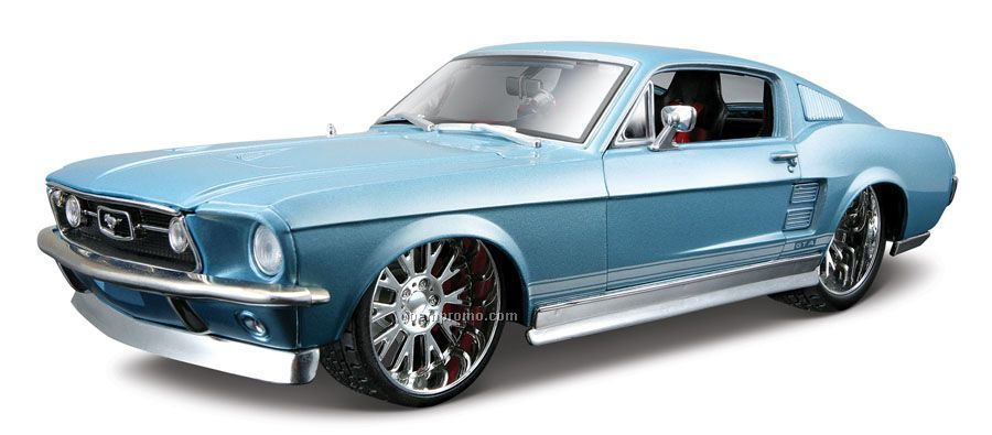"""9 """"X2 1/2""""X3"""" 1967 Ford Mustang Gta Fastback All Star Die Cast"""