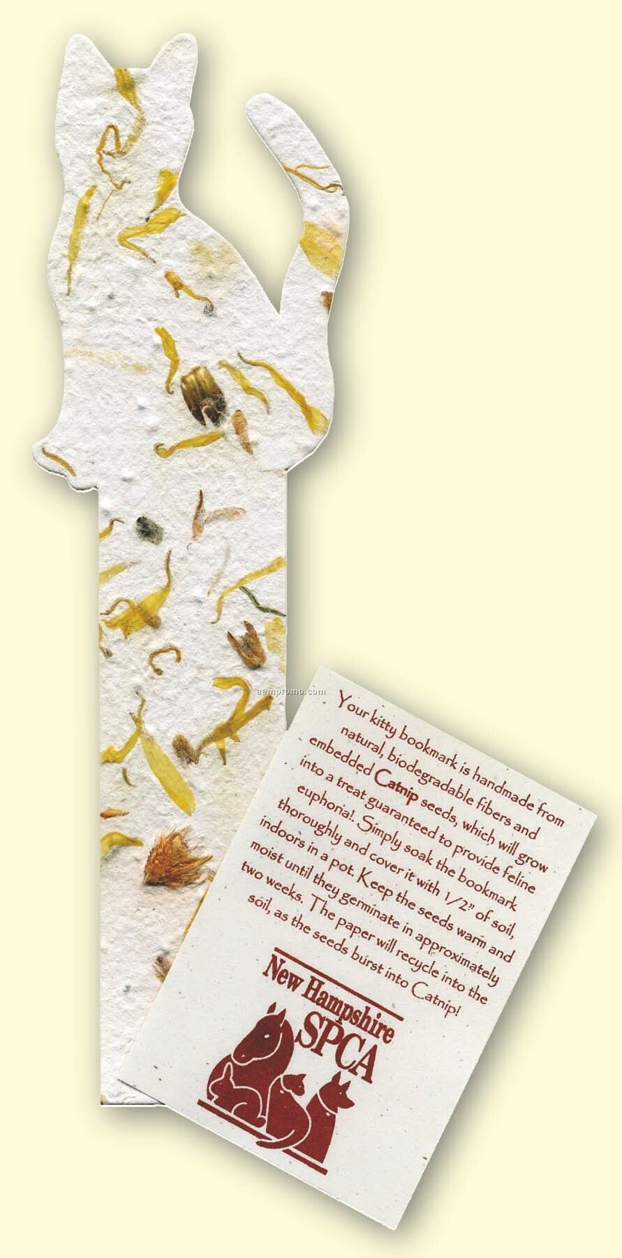 Cat Bookmark Embedded With Catnip Seed