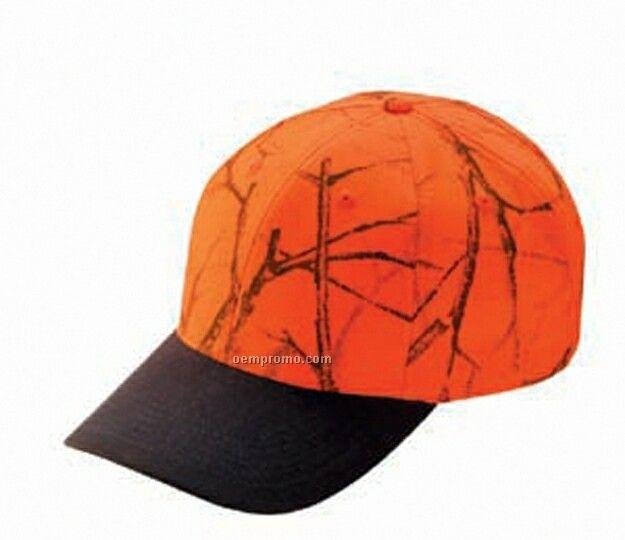 Flame Orange Camo Low Profile Cap W/ Color Visor