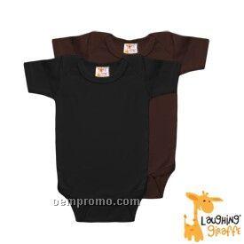 Infant Short Sleeve Cotton Onesie ( Dark Colors)