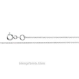 """Ladies' 7"""" 14kw 1mm Diamond-cut Cable Chain Bracelet"""