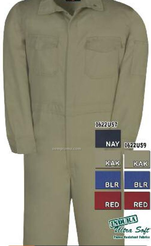 "7 Oz. Ultra Soft Deluxe Flame Resistant Coverall (38""-50"" Waist)"