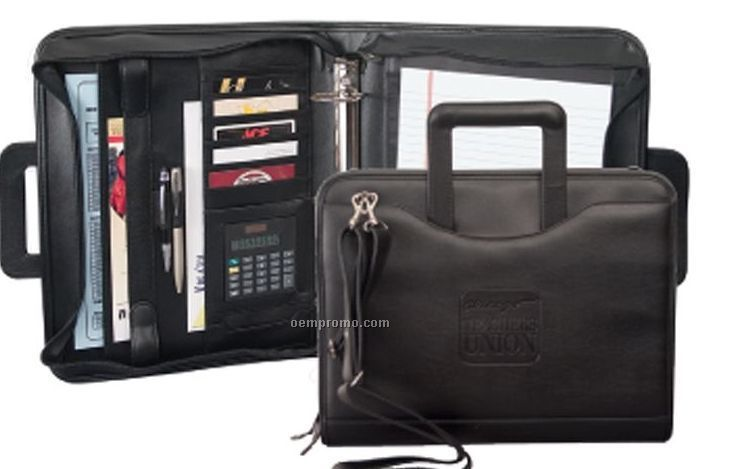 Ring Padfolio W/Removable Shoulder Strap