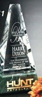 """Verde Gallery Crystal & Marble Varnell Peak Award (8"""")"""