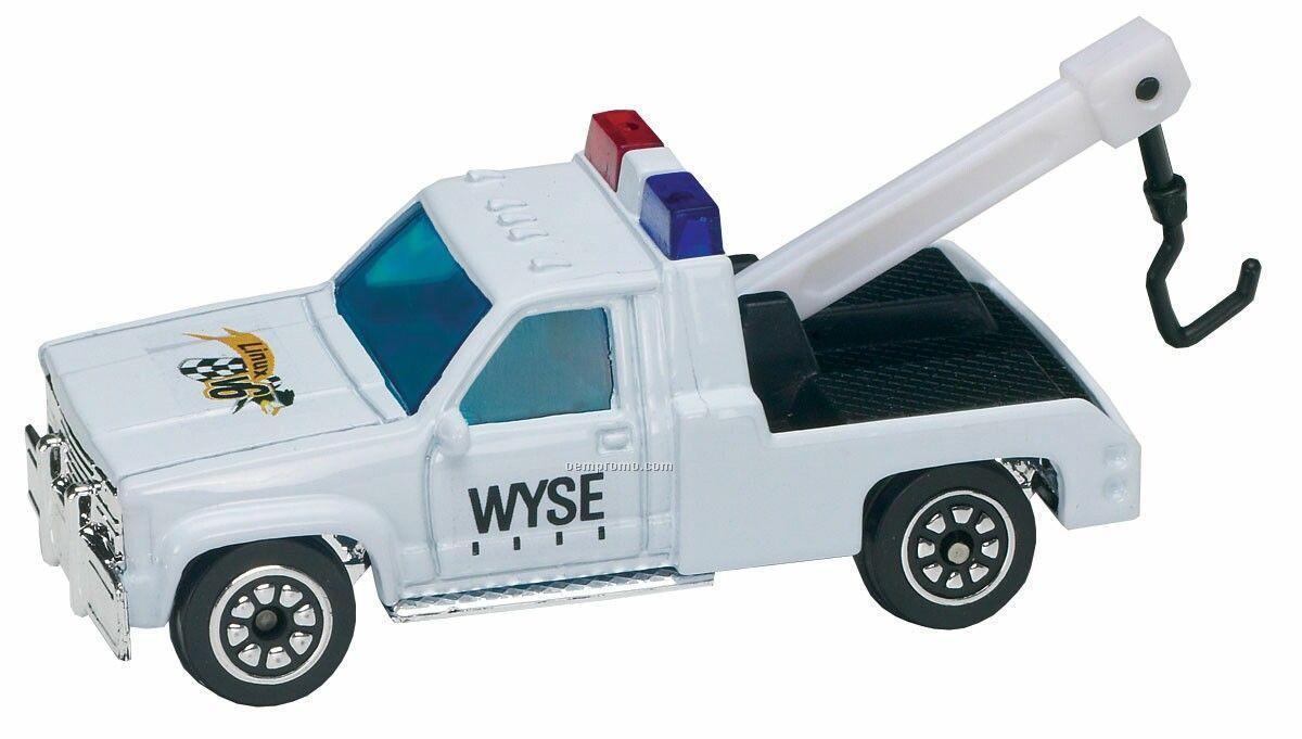 White Tow Truck Die Cast Mini Vehicle