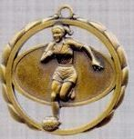 "2 3/8"" Stock Sculptured Medal - Female Soccer"