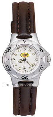 Pedre Women's Blazer Watch W/ Padded Stitched Cowhide Straps