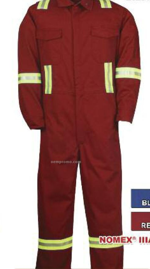 "6 Oz. Nomex Iiia Coverall W/ 2"" Fr #8940 Reflective Tape (38"" To 50"")"
