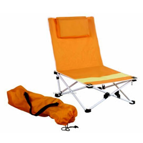 Beach Chair With Wooden Handle
