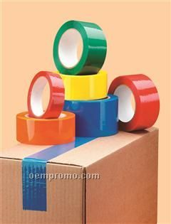 Unprinted Colored Poly Pro Tape W/ Acrylic Adhesive