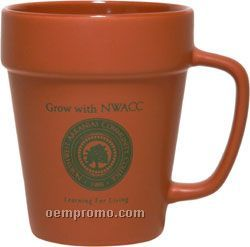 14 Oz. Flower Pot Mug - Screen Printed