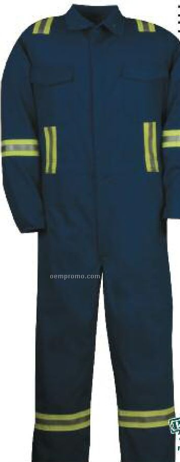 "7 Oz. Ultra Soft Deluxe Coverall W/ 2"" Visibility Tape (38""-50"" Waist)"