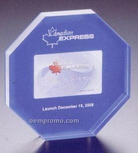 """Entrapment Plaque W/ Blue Background & 1 Color Print Frame (6""""X6"""")"""