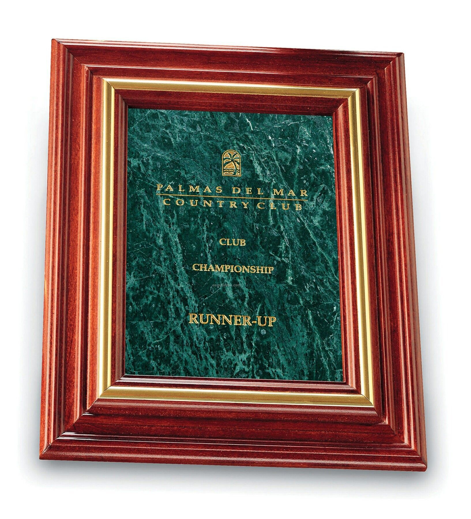 Large Cherry Plaque (Green Marble)