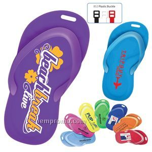 Recycled Styrene Plastic Sandal Luggage Tag
