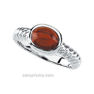14kw Genuine Mozambique Garnet Cabochon Ring