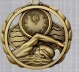 "2 3/8"" Stock Sculptured Medal - G. Swimming"