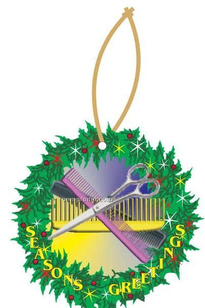 Beautician Combo Executive Wreath Ornament W Mirrored