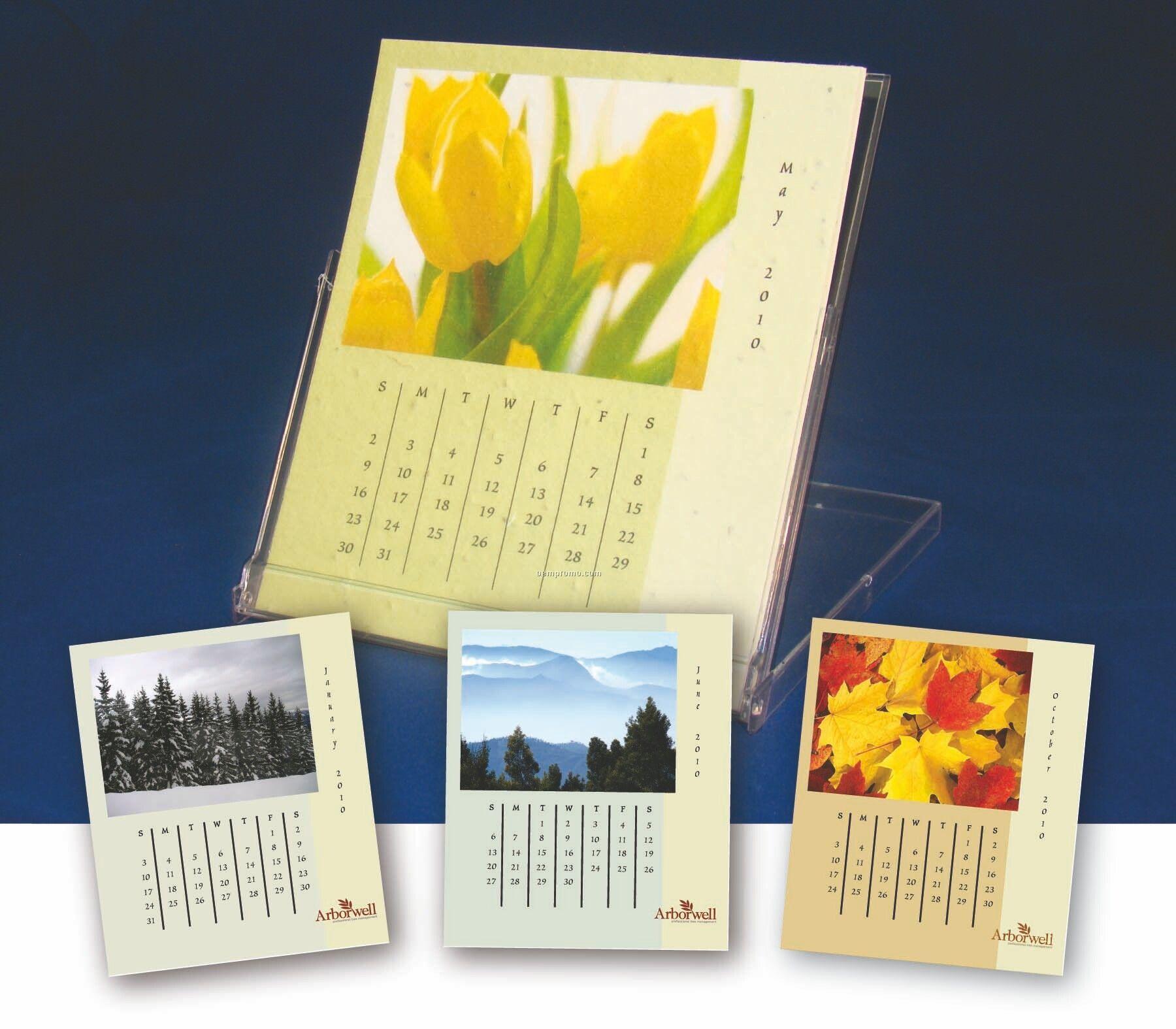 Seeded Desk Calendar