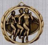 "2 3/8"" Stock Sculptured Medal - Female Track"