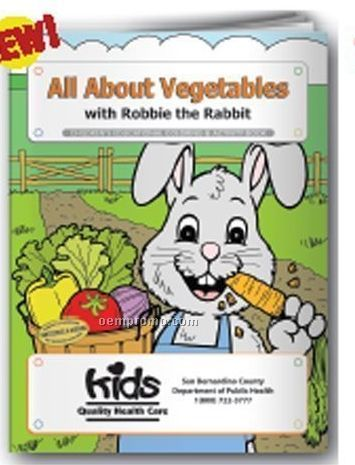 Coloring Book - All About Vegetables W/Robbie The Rabbit