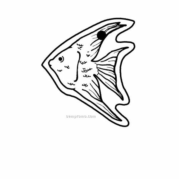 Stock Shape Collection Fish 3 Key Tag