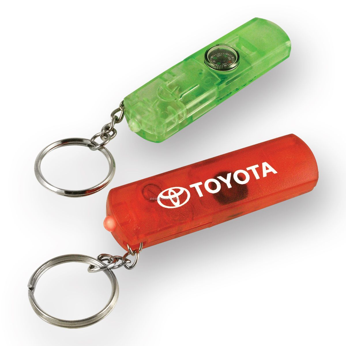 keychain whistle light and compass