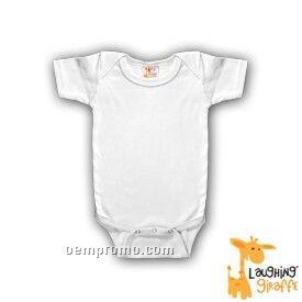 White Infant Short Sleeve Cotton Onesie