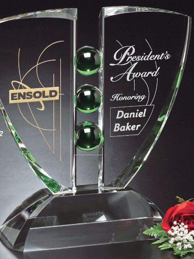 "Emerald Gallery Pinion Award (9""X12""X3 1/2"")"