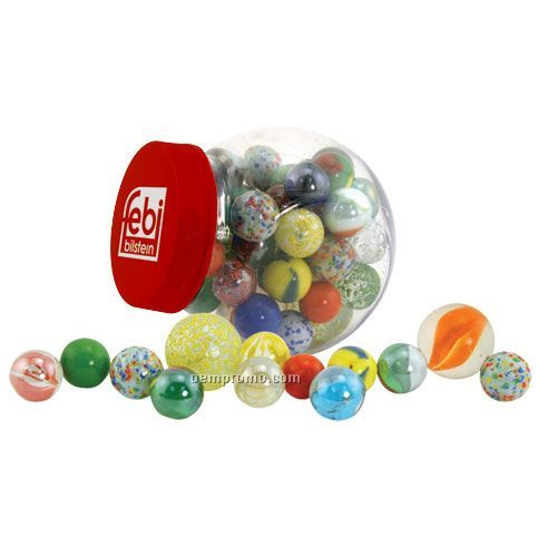 Glass Marbles Game : Glass marbles game set with storage canister china