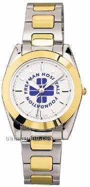 Pedre Men's 2 Tone Waverly Watch W/ Stainless Steel Bracelet