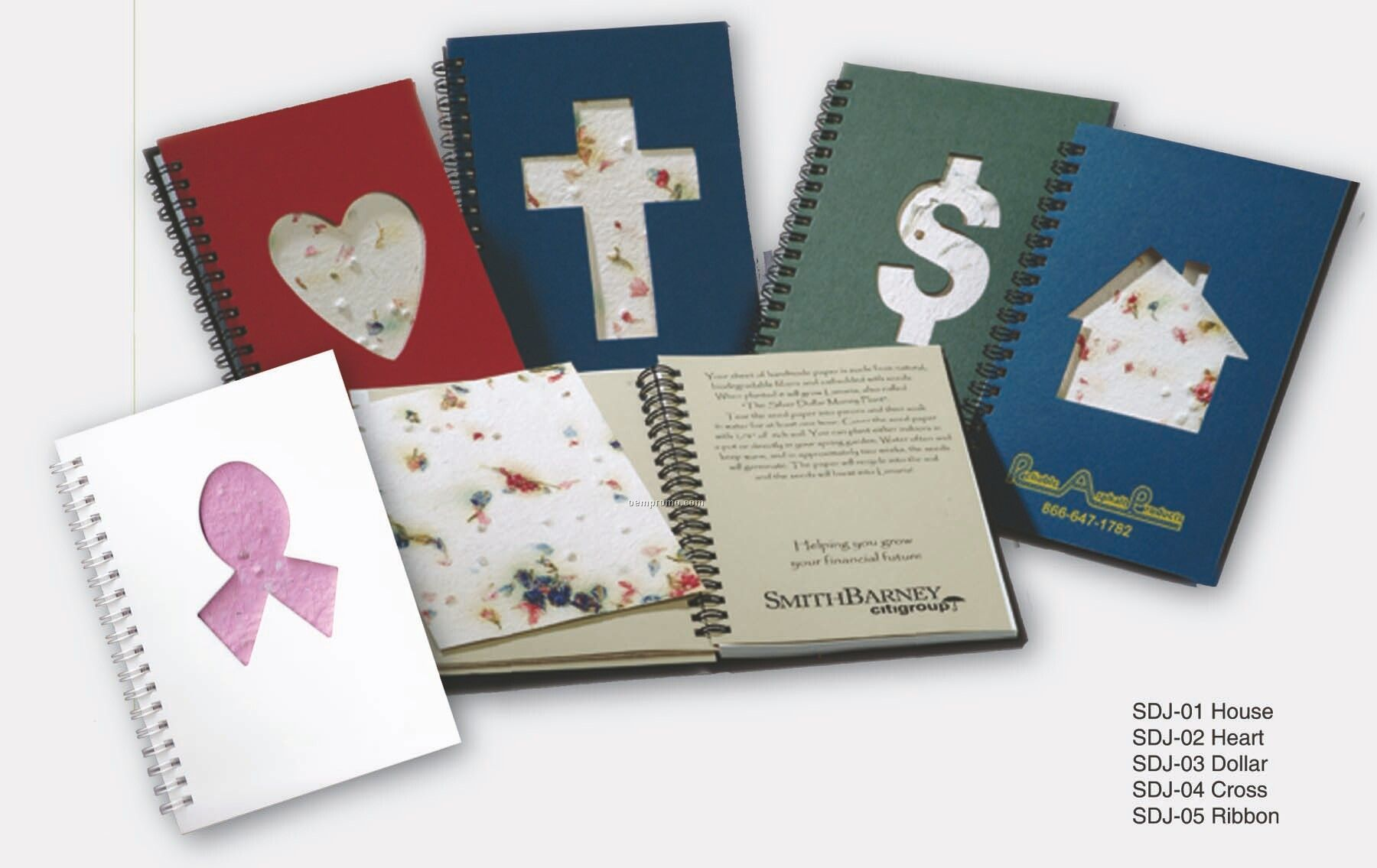 "Seeded 5""X7"" Heart Journal"