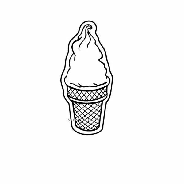 Stock Shape Ice Cream Cone Recycled Magnet