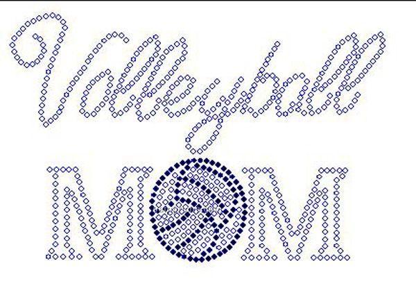 Volleyball Mom Rhinestone Transfer