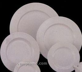 """12"""" White Elegance Fine Porcelain Plate"""
