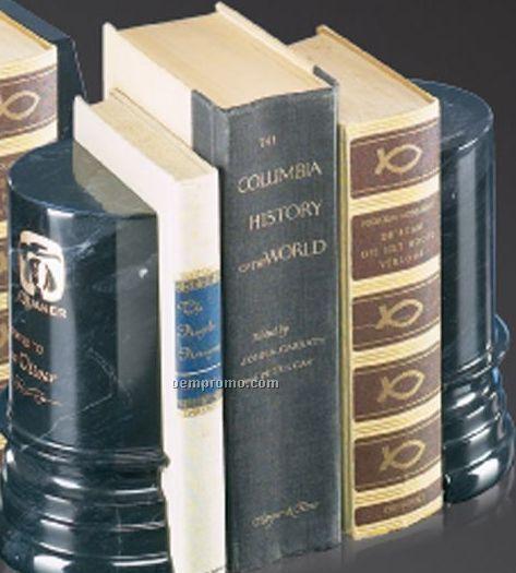 """6""""X7"""" Black Marble Apollo Book End Award"""