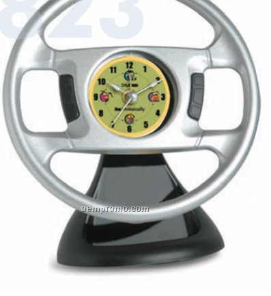 Steering Wheel Alarm Clock