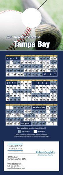 Tampa Bay Pro Baseball Schedule Door Hanger (4