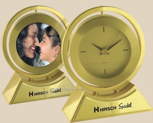 Brass Swivel Picture Clock
