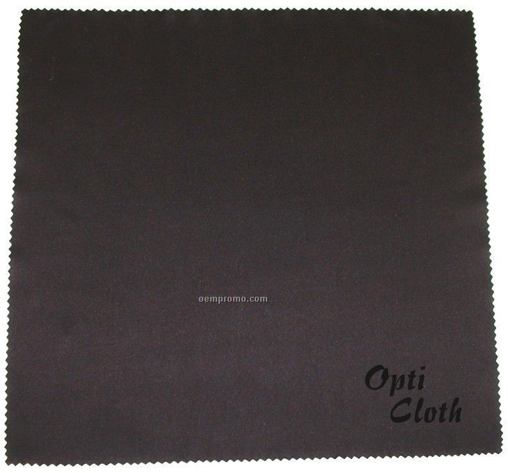 """Deluxe 10"""" X 10"""" Black Opticloth With Laser """"Engraved"""" Imprint"""