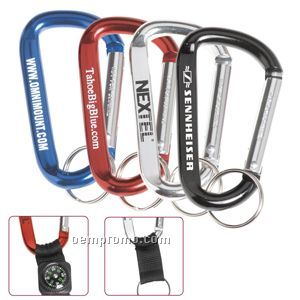 Large Carabiner W/ Compass Attachment