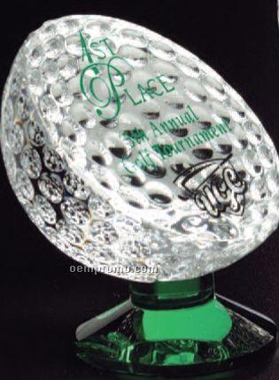 "Sports Gallery Fairway Crystal Award (4"")"