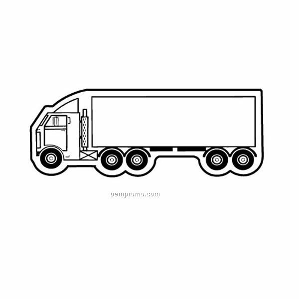 Stock Shape Moving Truck Recycled Magnet
