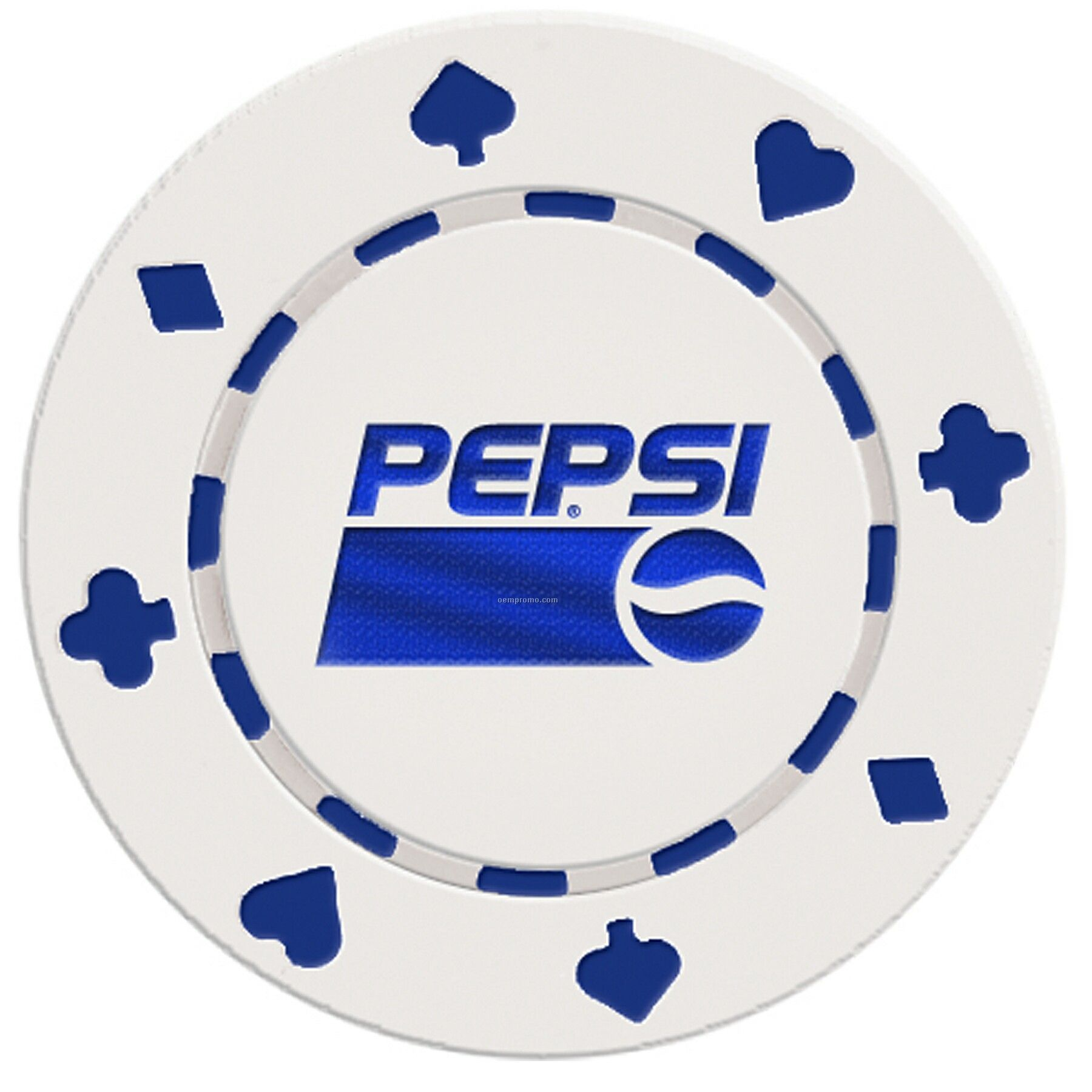 Suited Style Poker Chip Business Card (1 Side Imprint)