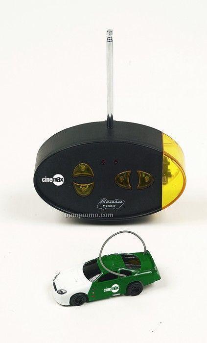"3"" Green Nascar Style Remote Control Mini Car"