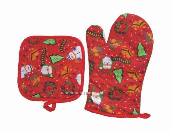 Oven Mitt & Pot Holder Set