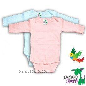 Poly Cotton Blend Infant Long Sleeve Onesie ( Pastel Colors)