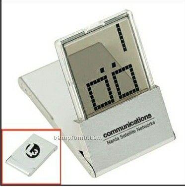 Metal Lcd Travel Alarm Clock