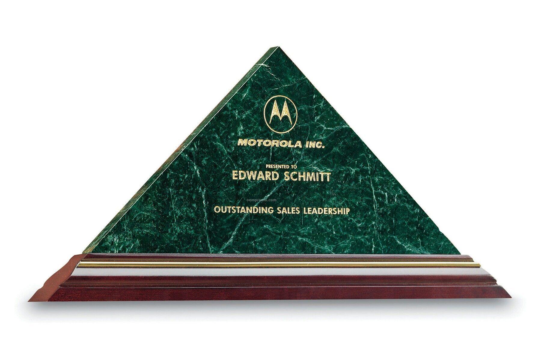 Small Marble Triad Award (Green Marble)