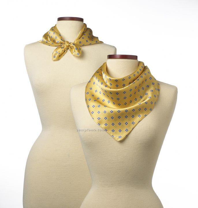 """Wolfmark Yellow Vasari Silk Scarf (21""""X21"""")"""